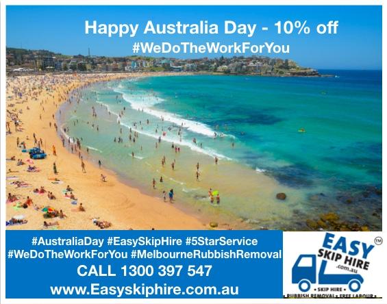 Australia Day - Easy Skip Hire Offer