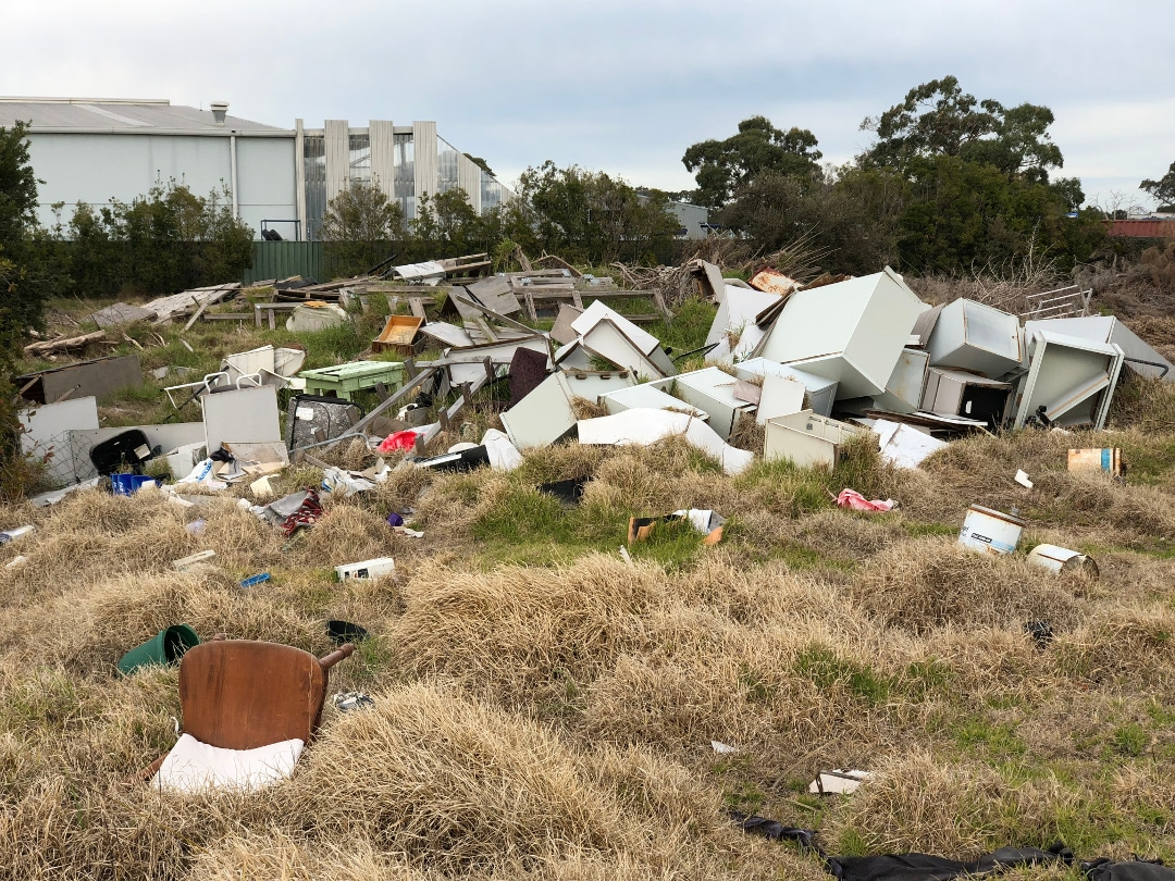illegal rubbish dumping cleared