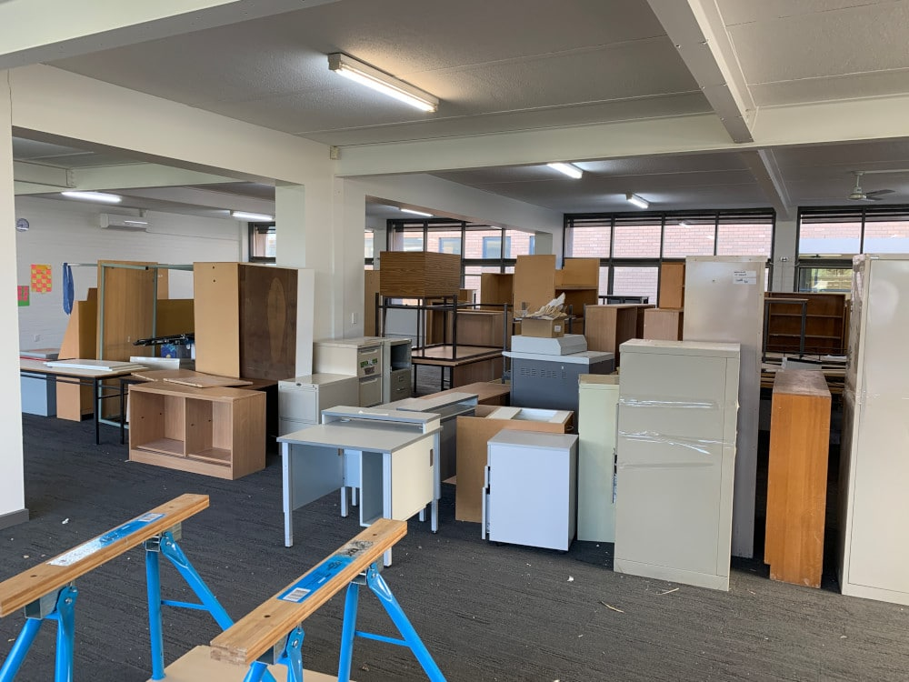 office rubbish removal bayside melbourne before