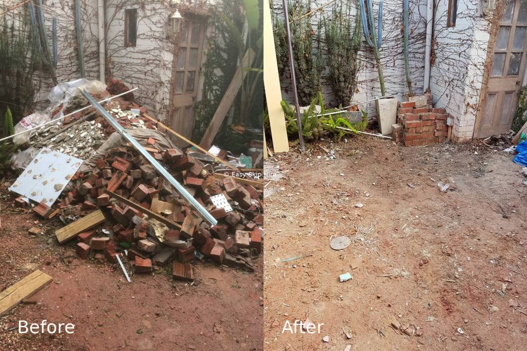 rubbish removal before after albert park melbourne