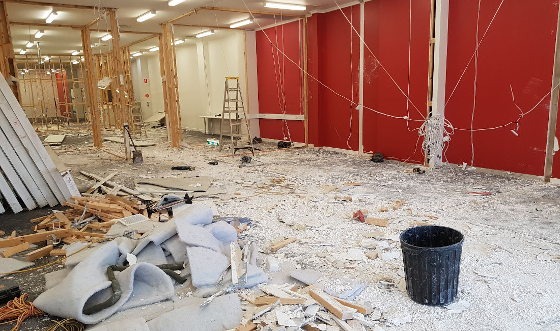 office fit out rubbish removal melbourne before