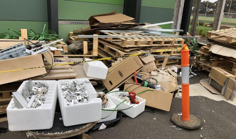 school rubbish removal melbourne before