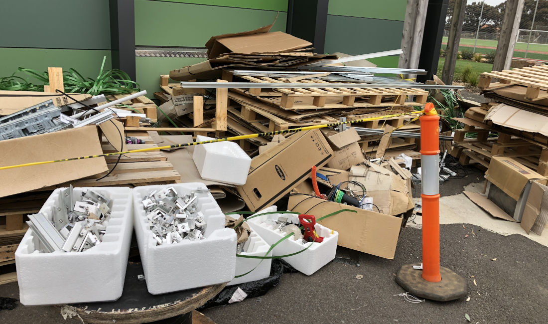 school rubbish removal melbourne before