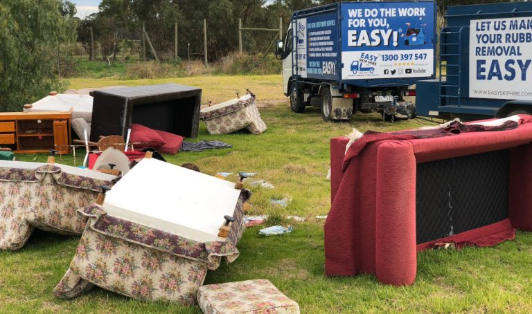 dumped rubbish removal by easy skip hire
