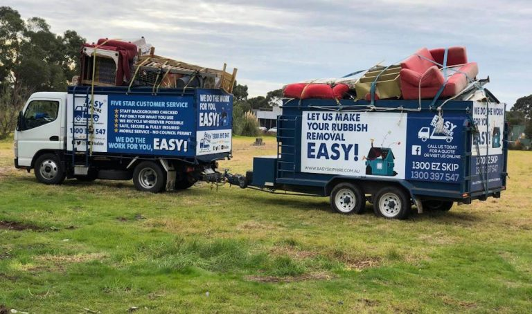 dumped rubbish removal job
