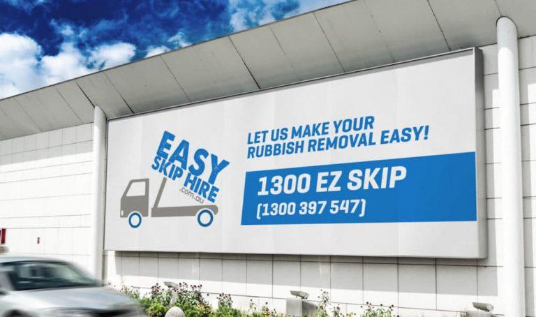 easy skip hire billboard