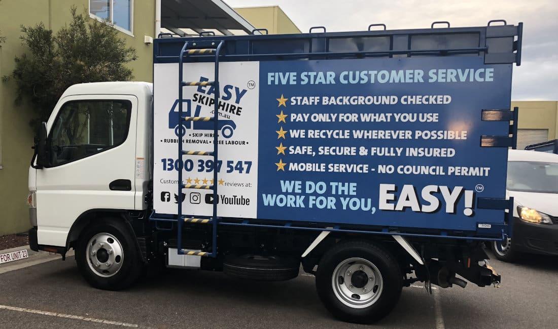 easy skip hire truck