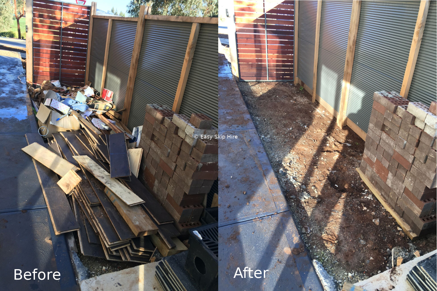 rubbish removal before after melbourne