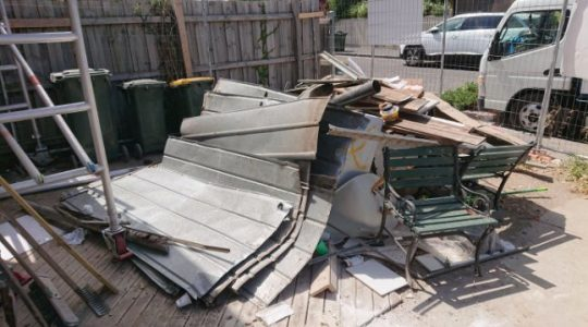 building rubbish removal service before