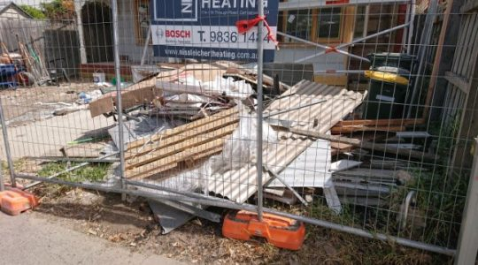 building site rubbish removal melbourne before